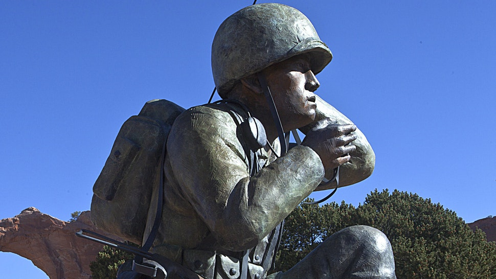 (GERMANY OUT) Navajo Code Talker monument in Window Rock Navajo Reservation Arizona USA