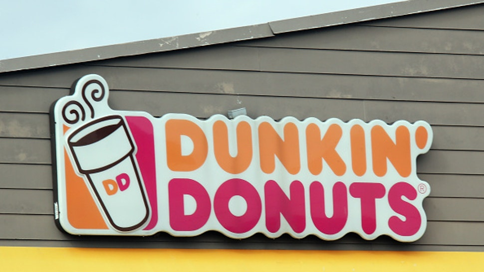LEVITTOWN, NEW YORK - MARCH 16: An image of the sign for Dunkin' Donuts as photographed on March 16, 2020 in Levittown, New York.