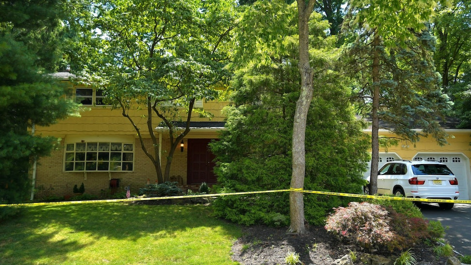 NORTH BRUNSWICK, NEW JERSEY - JULY 20: A view of the home of U.S. District Judge Esther Salas. on July 20, 2020 in North Brunswick, New Jersey. Salas' son, Daniel Anderl, was shot and killed and her husband, defense attorney Mark Anderl, was injured when a man dressed as a delivery person came to their front door and opened fire. Salas was not injured. US marshals and the FBI are investigating.