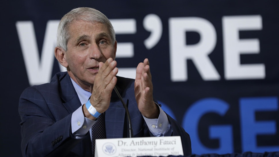 Anthony Fauci, director of the National Institute of Allergy and Infectious Diseases, speaks during a roundtable discussion at the American Red Cross National Headquarters in Washington, D.C., U.S., on Thursday, July 30, 2020. Trump is coming under increased pressure to impose national rules as the U.S., already with the worlds highest coronavirus death toll, struggles to contain the spread of the coronavirus.