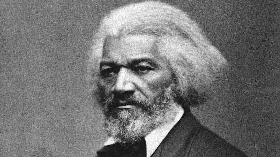 American abolitionist and former slave Frederick Douglass (1817-1895), who helped recruit African-American regiments during the Civil War, ca. 1879.