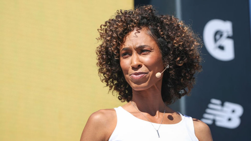 SportsCenter anchor Sage Steele at the espnW Women + Sports Summit held at The Resort at Pelican Hill on October 23, 2019 in Newport Beach, California.
