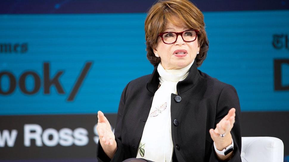 Valerie Jarrett, Board Chair of When We All Vote speaks onstage at 2019 New York Times Dealbook on November 06, 2019 in New York City.