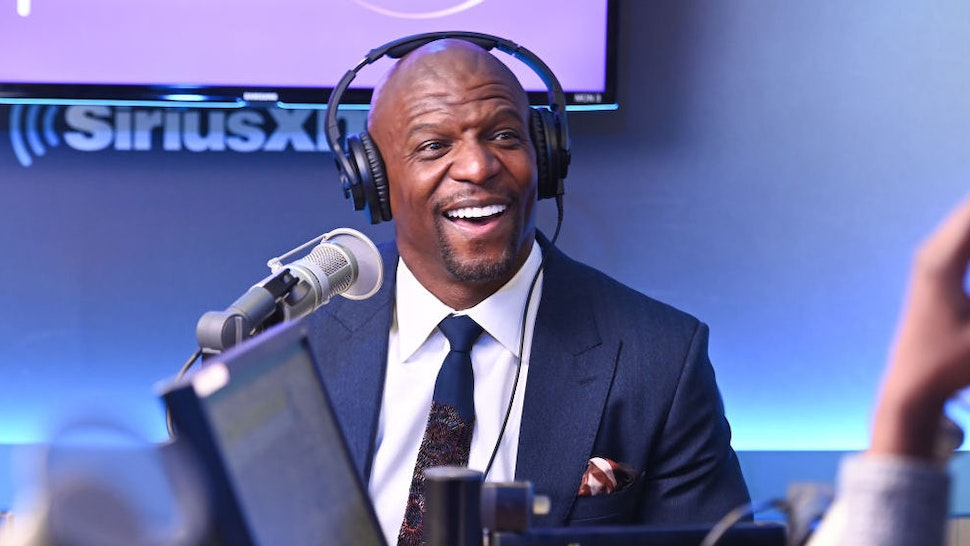 Terry Crews visits 'Heather B. Live' with Heather B. at the SiriusXM Studios on January 23, 2020 in New York City.