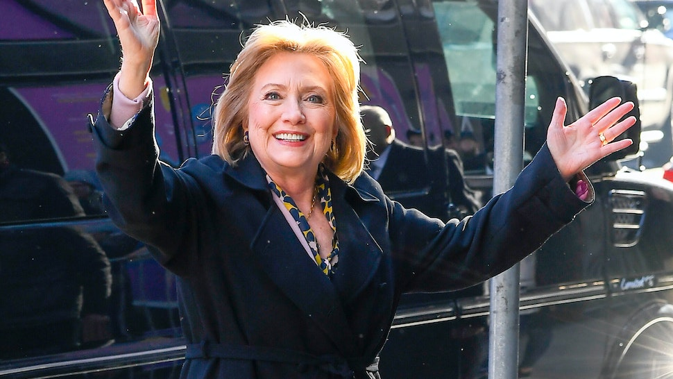NEW YORK, NY - MARCH 03: Hillary Clinton is seen outside good morning america on March 3, 2020 in New York City. (Photo by Raymond Hall/GC Images)