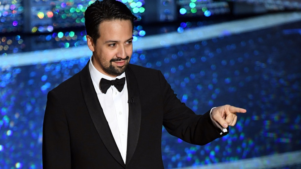 HOLLYWOOD, CALIFORNIA - FEBRUARY 09: Lin-Manuel Miranda speaks onstage during the 92nd Annual Academy Awards at Dolby Theatre on February 09, 2020 in Hollywood, California. (Photo by Kevin Winter/Getty Images)
