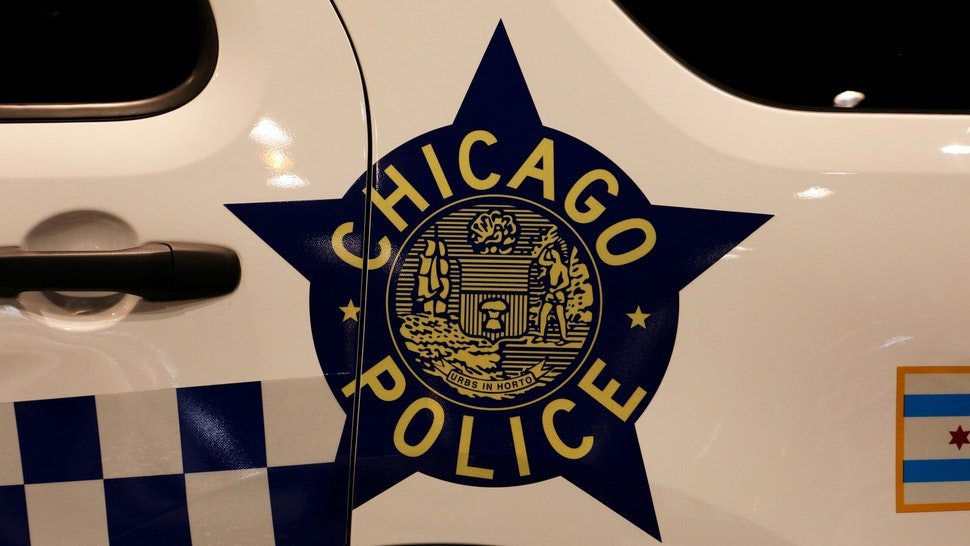 """HICAGO - FEBRUARY 06: A Chicago Police decal on a Chicago Police vehicle is on display at the 112th Annual Chicago Auto Show at McCormick Place in Chicago, Illinois on February 6, 2020. (Photo By Raymond Boyd/Getty Images)""""n"""
