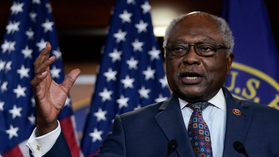 House Majority Whip Rep. James Clyburn (D-SC) speaks during a news conference at the U.S. Capitol, May 27, 2020 in Washington, DC.