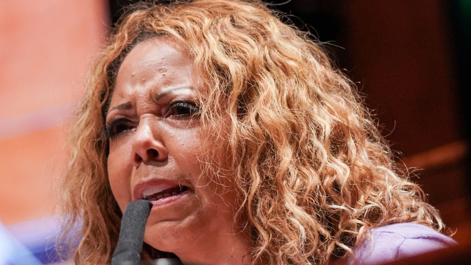 U.S. Rep. Lucy McBath (D-GA) questions witnesses a House Judiciary Committee hearing on police brutality and racial profiling on June 10, 2020 in Washington, DC.