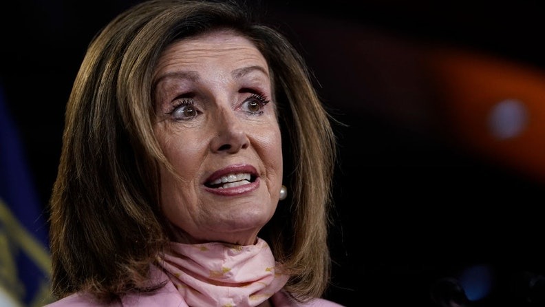Speaker of the House Nancy Pelosi (D-CA) speaks during her weekly news conference on Capitol Hill on July 9, 2020 in Washington, DC.