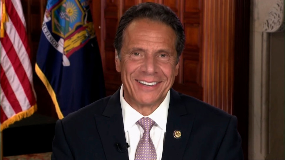 Pictured in this screengrab: New York Governor Andrew Cuomo during an interview on July 13, 2020