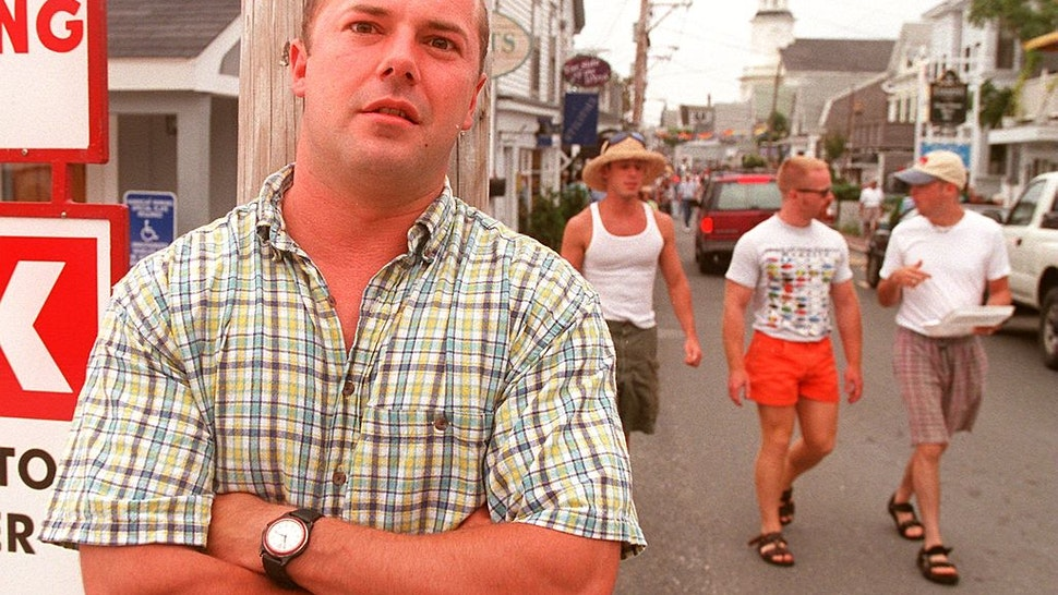 Andrew Sullivan, former editor of the New Republic, on Commercial Street near his Provincetown summer condominium.