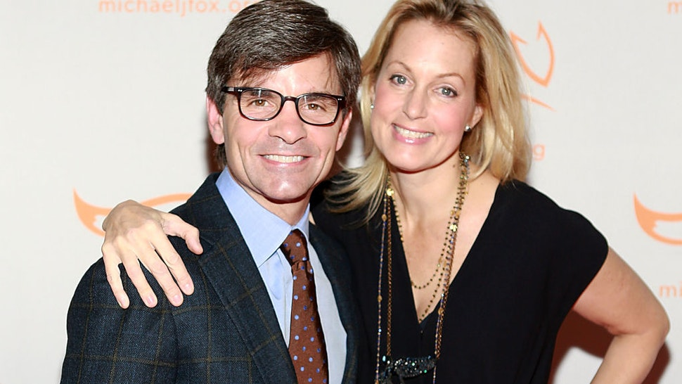 George Stephanopoulos and Ali Wentworth attend 2013 A Funny Thing Happened On The Way To Cure Parkinson's at The Waldorf=Astoria on November 9, 2013 in New York City.
