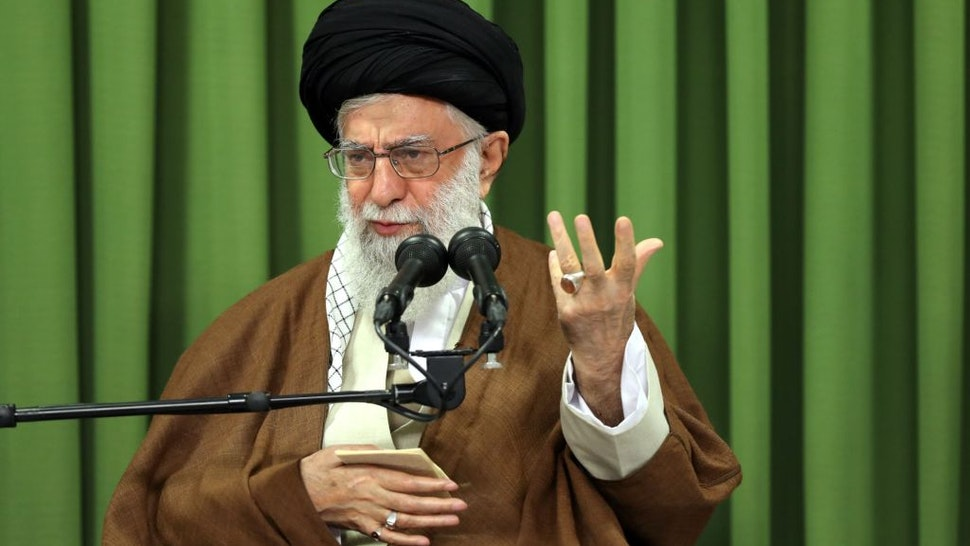 Iran's Supreme Leader Ayatollah Ali Khamanei speaks during his meeting with students in Tehran, Iran on October 18, 2017.