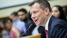 Peter Strzok, an agent at the Federal Bureau of Investigation (FBI), speaks during a joint House Judiciary, Oversight and Government Reform Committees hearing in Washington, D.C., U.S., on Thursday, July 12, 2018.