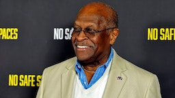 """HOLLYWOOD, CALIFORNIA - NOVEMBER 11: Former presidential candidate Herman Cain attends the premiere of the film """"No Safe Spaces"""" at TCL Chinese Theatre on November 11, 2019 in Hollywood, California"""