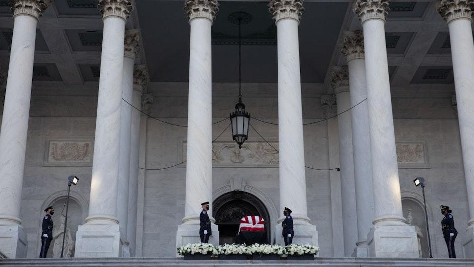 John Lewis Lies In State At Capitol