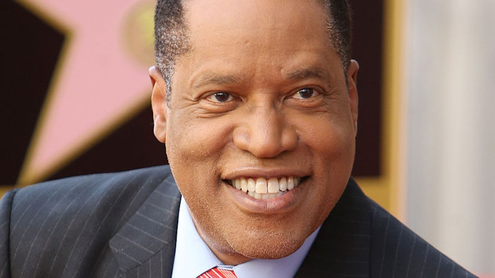 Larry Elder attends the ceremony honoring him with a Star on The Hollywood Walk of Fame on April 27, 2015 in Hollywood, California.