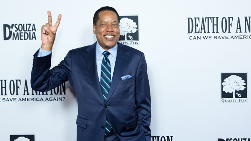 "LOS ANGELES, CALIFORNIA - JULY 31: Radio Talk Show Host Larry Elder attends the ""Death Of A Nation"" Premiere at Regal Cinemas L.A. Live on July 31, 2018 in Los Angeles, California."