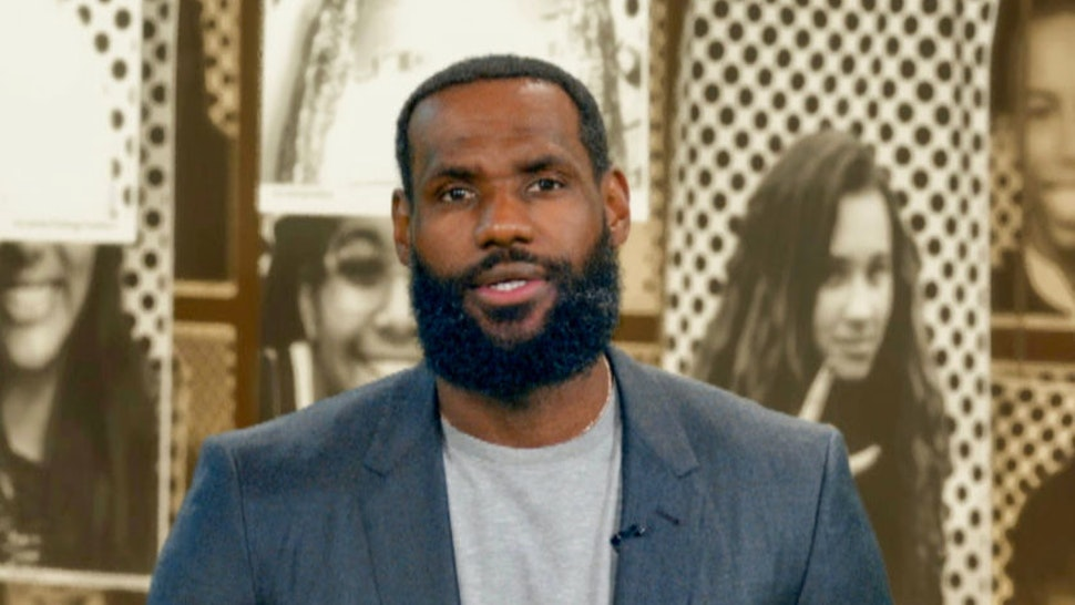 In this screengrab, LeBron James speaks during Graduate Together: America Honors the High School Class of 2020 on May 16, 2020. (Photo by Getty Images/Getty Images for EIF & XQ)