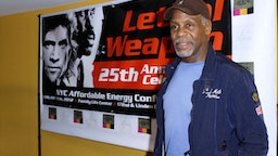 """NEW YORK, NY - FEBRUARY 10: Danny Glover celebrates the 25th Anniversary of """"Lethal Weapon"""" at Sofrito on February 10, 2012 in New York City."""