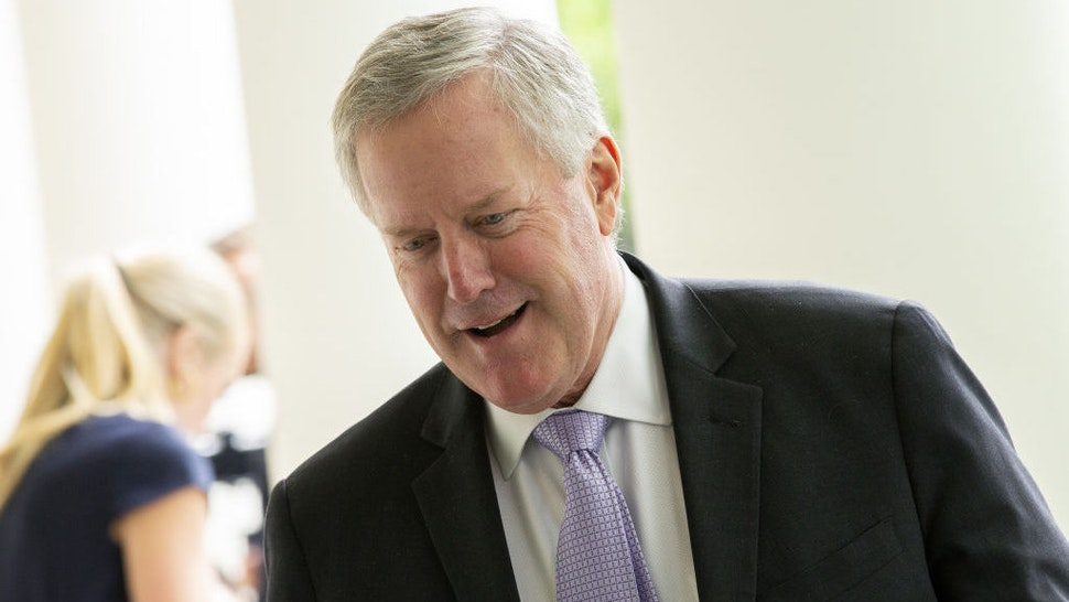 Mark Meadows, White House chief of staff, arrives to the Rose Garden of the White House in Washington, D.C., U.S., on Tuesday, June 16, 2020. Trump said he met with families of Black people killed at the hands of police ahead of the Rose Garden speech where he will sign an executive order to encourage better training on use of force. Photographer: Stefani Reynolds/CNP/Bloomberg