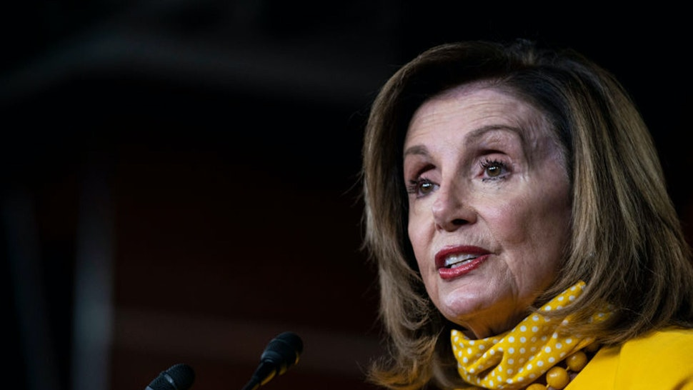 WASHINGTON, DC - JUNE 11: U.S. Speaker of the House Rep. Nancy Pelosi (D-CA) speaks during a weekly news conference on June 11, 2020 in Washington, DC. Speaker Pelosi discussed various topics including the Black Lives Matter movement and coronavirus.