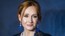 """LONDON, ENGLAND - NOVEMBER 13: J.K Rowling attends the UK Premiere of """"Fantastic Beasts: The Crimes Of Grindelwald"""" at Cineworld Leicester Square on November 13, 2018 in London, Englan"""