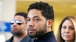 CHICAGO, ILLINOIS - MARCH 26: Actor Jussie Smollett after his court appearance at Leighton Courthouse on March 26, 2019 in Chicago, Illinois. This morning in court it was announced that all charges were dropped against the actor.