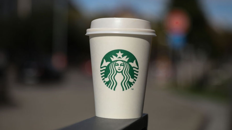 A Starbucks Coffe Cup is seen in Stuttgart, Germany on October 20, 2019 (Photo by AB/NurPhoto via Getty Images)