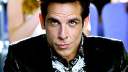 "LOS ANGELES - SEPTEMBER 28: The movie ""Zoolander"", directed by Ben Stiller. Seen here, Ben Stiller (as male model Derek Zoolander). Theatrical release September 28, 2001. Screen capture. Paramount Pictures."
