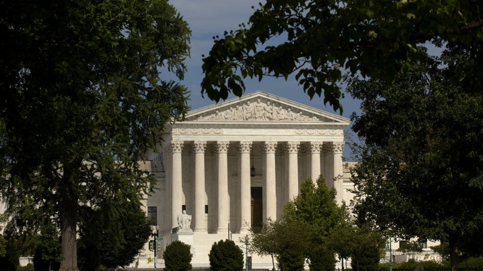 The U.S. Supreme Court stands in Washington D.C., U.S., on Monday, July 20, 2020. The Supreme Court refused to let House Democrats immediately renew their push to get President Donald Trump's financial records, rejecting their requests to return two cases to the appeals court level ahead of schedule.