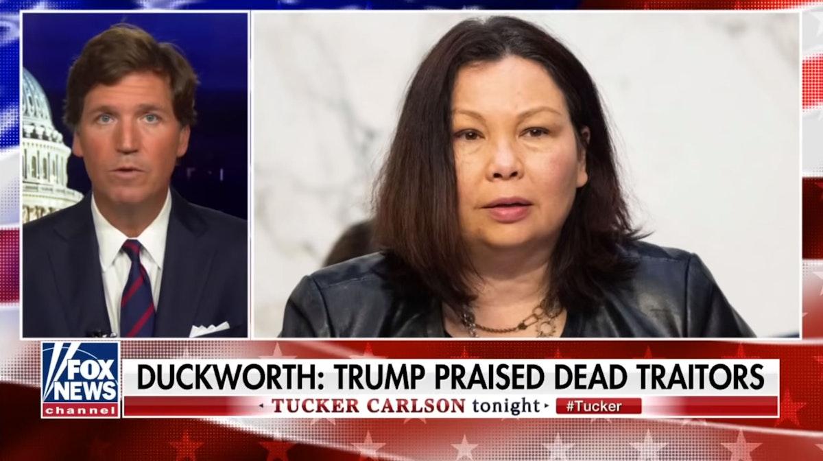 WATCH: Tucker Carlson Unloads On 'Moron' Senator Tammy Duckworth For Being 'Too Afraid To Defend Her Own Statements'