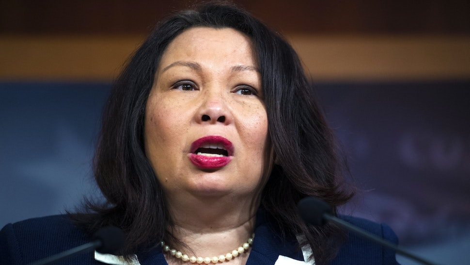 UNITED STATES - JANUARY 25: Sen. Tammy Duckworth, D-Ill., conducts a news conference in the Capitol after the Senate adjourned for the day the impeachment trial of President Donald Trump on Saturday, January 25, 2020.