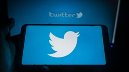 Twitter logo displayed on a phone screen in Tehatta, Nadia, West Bengal, India on June 16, 2020. Twitter is launching two new features: The ability to save a tweet as a draft, as well as the ability to schedule a tweet to send at a specific time.