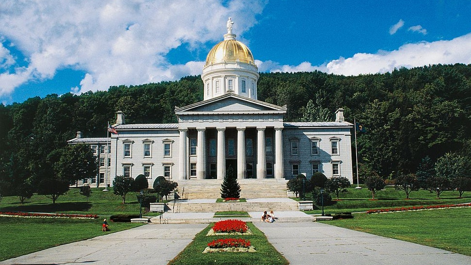 UNITED STATES - APRIL 23: Vermont State House, 1857-1858, by Thomas Silloway, Montpelier, Vermont, United States of America. (Photo by DeAgostini/Getty Images)
