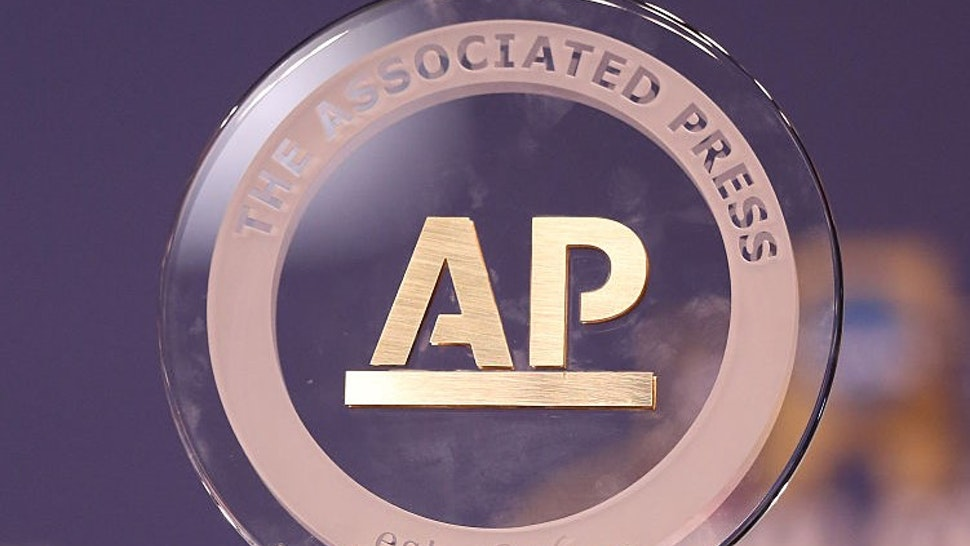 HOUSTON, TEXAS - MARCH 31: A detail view of the Associated Press Coach of the Year Trophy presented to head coach Bill Self of the Kansas Jayhawks (not pictured) prior to the 2016 NCAA Men's Final Four at NRG Stadium on March 31, 2016 in Houston, Texas. (Photo by