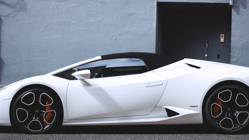 The Lamborghini Huracan Spyder, seen in Knightsbridge, London. The spyder is Lamborghini's news variant of the Huracan, and has since broken global sales records for Lamborghini. (Photo by Martyn Lucy/Getty Images)