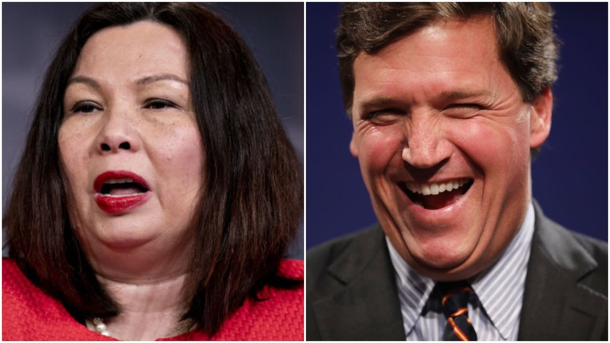 'Imposter Patriots': Tammy Duckworth Slams Tucker Carlson and Trump As 'Self-Serving, Insecure Men'