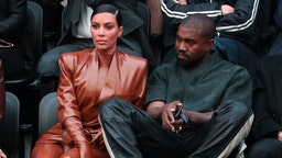 PARIS, FRANCE - MARCH 01: (EDITORIAL USE ONLY) Kim Kardashian and Kanye West attend the Balenciaga show as part of the Paris Fashion Week Womenswear Fall/Winter 2020/2021 on March 01, 2020 in Paris, France. (Photo by