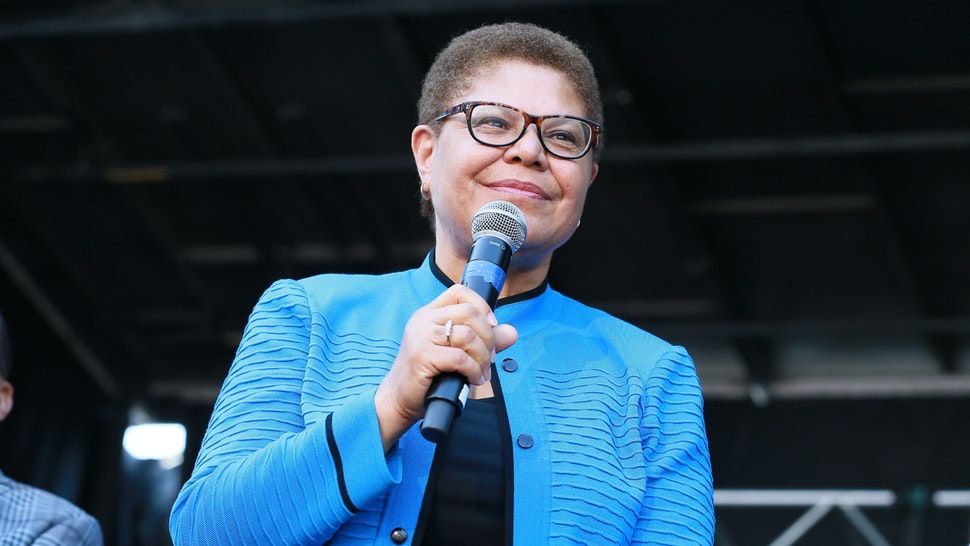 Congresswoman Karen Bass attends the official unveiling of City Of Los Angeles' Obama Boulevard in honor of the 44th President of the United States of America on May 04, 2019 in Los Angeles, California.