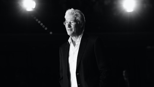 Image has been converted to black and white.) Richard Gere attends the 'Time Out of Mind' Red Carpet during the 9th Rome Film Festival on October 19, 2014 in Rome, Italy.