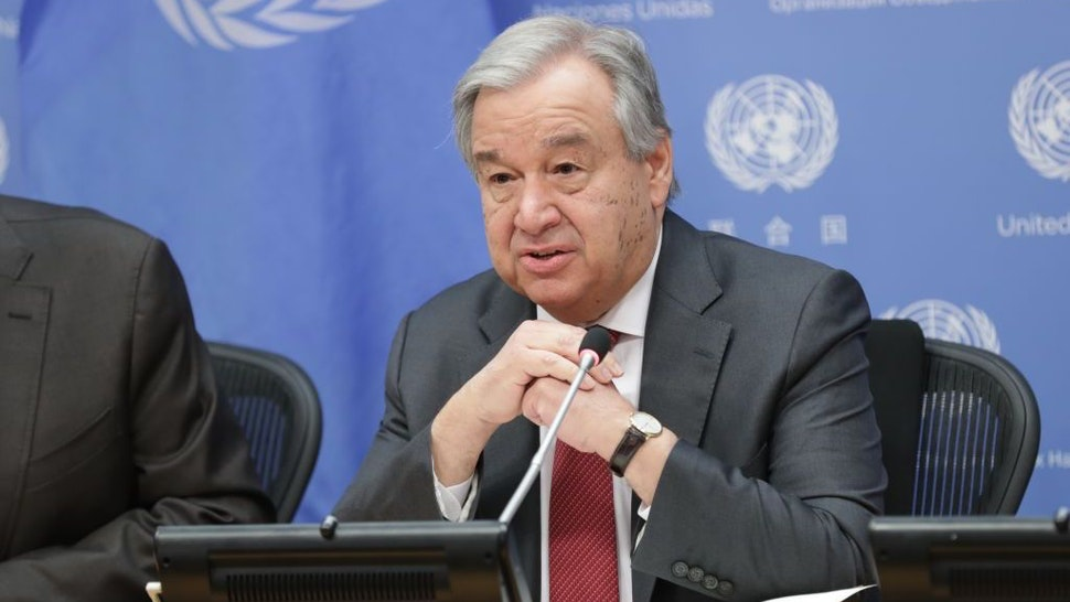 Portrait during Beginning of the Year Press conference of Secretary General Antonio Guterres at the UN Headquarters in New York City, New York, February 4, 2020. (Photo by EuropaNewswire/Gado/Getty Images)