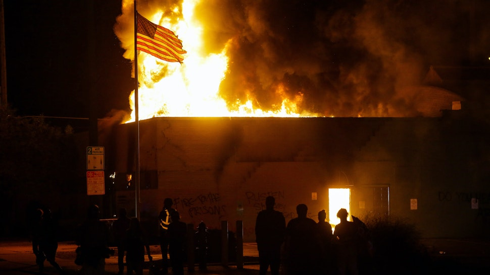 WATCH: CNN Claims Kenosha Protests Are 'Fiery But Mostly Peaceful' As City Burns Behind Reporter