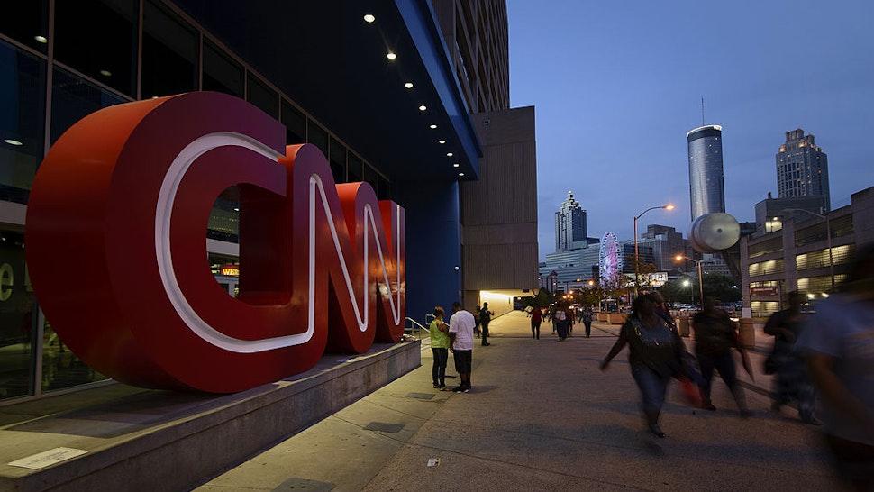Atlanta, GA. August 2, 2014. CNN Center signage. Photo by Michael A. Schwarz