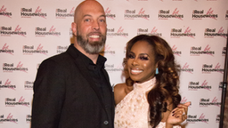 "WASHINGTON, DC - APRIL 28: Chris Bassett and Candice Dillard Bassett attend ""Real Housewives Of Potomac"" Premiere Party at The Hecht Warehouse at Ivy City on April 28, 2019 in Washington, DC."