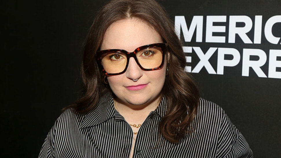 """NEW YORK, NY – SEPTEMBER 5: Lena Dunham poses at The Opening Night of """"Betrayal"""" on Broadway at The Jacobs Theatre on September 5, 2019 in New York City."""