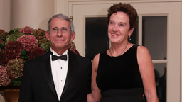 Director of the National Institute of Allergy & Infectious Diseases at the National Institute of Health Anthony Fauci and his wife Christine Grady arrive at the White House for a state dinner October 18, 2016 in Washington, DC. U.S. President Barack Obama is hosting a state dinner for Prime Minister of Italy Matteo Renzi and his wife Agnese Landini.