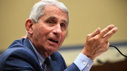 Anthony Fauci, director of the National Institute for Allergy and Infectious Diseases, testifies during a House Subcommittee on the Coronavirus Crisis hearing on a national plan to contain the COVID-19 pandemic, on Capitol Hill in Washington, DC on July 31, 2020.