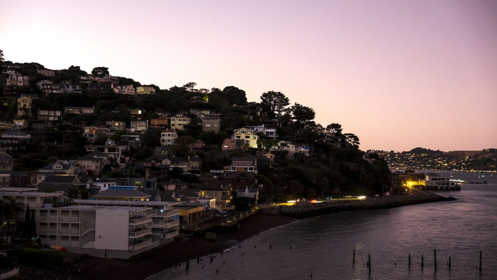 Homes stand during a blackout in Sausalito, California, U.S., on Tuesday, Oct. 29, 2019.